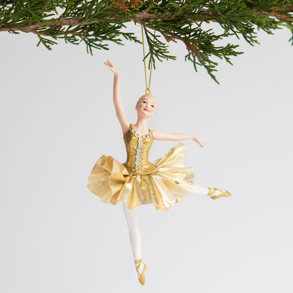 Ballerina Ornament (Gold)