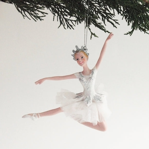 Ballerina Ornament (White Jump)
