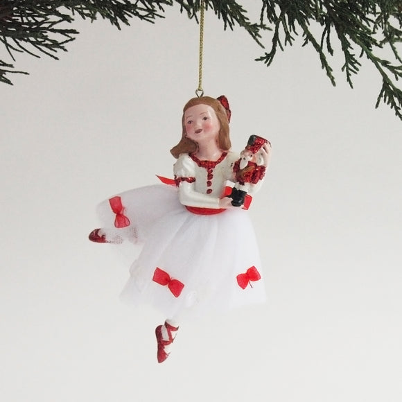 Nutcracker Ornament (Clara with bows)