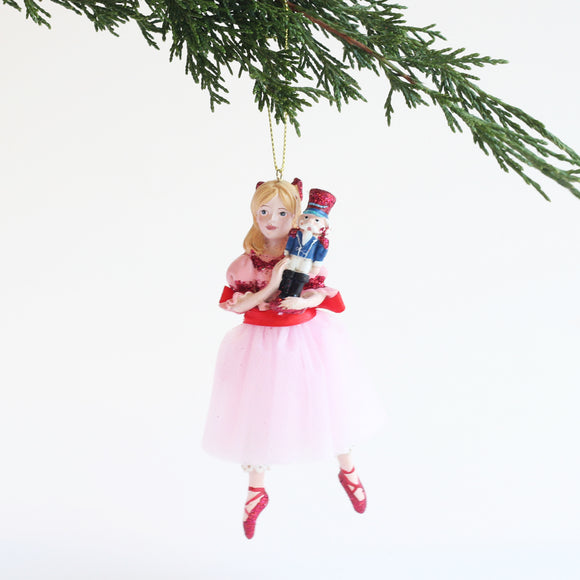 Nutcracker Ornament (Clara in pink dress)