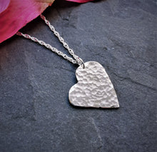 Load image into Gallery viewer, Ecosilver Hammered Heart Pendant
