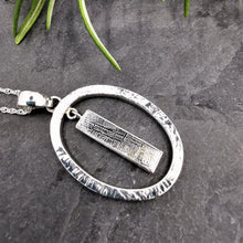 Load image into Gallery viewer, Meteorite and Solid Silver Oval Pendant