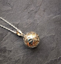 Load image into Gallery viewer, Small Silver and Brass Harmony Ball Pendant