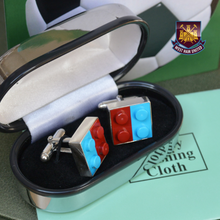 Load image into Gallery viewer, Football Cufflinks Sterling Silver