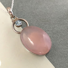 Load image into Gallery viewer, Pink Chalcedony and Sterling Silver pendant