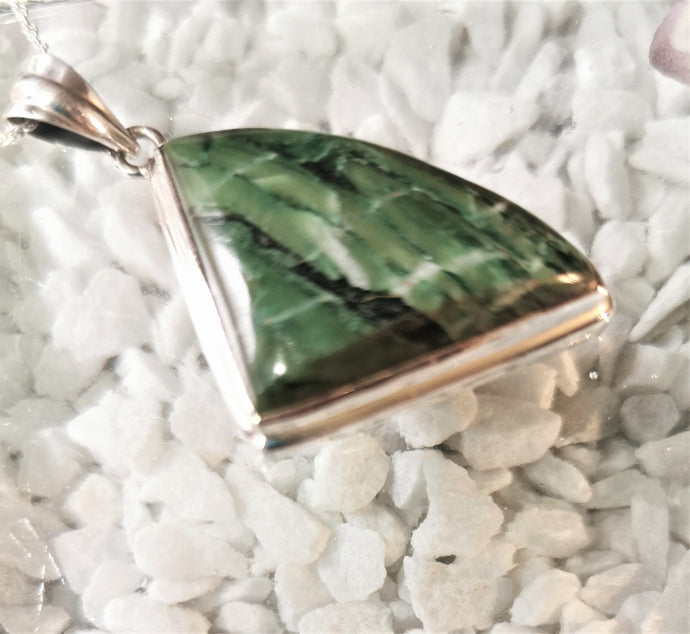 Green Banded Agate Pendant