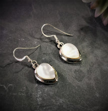 Load image into Gallery viewer, Mother of Pearl Inverted Teardrop Sterling Silver Earrings