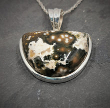 Load image into Gallery viewer, Ocean Jasper and Sterling Silver Pendant