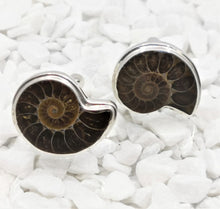 Load image into Gallery viewer, Ammonite Sterling Silver Cufflinks