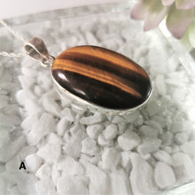 Load image into Gallery viewer, Tigers Eye and Sterling Silver Pendant