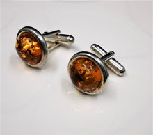 Load image into Gallery viewer, Solid Amber Cufflinks