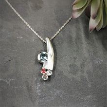 Load image into Gallery viewer, Garnet and Topaz  Sterling Silver  Pendant