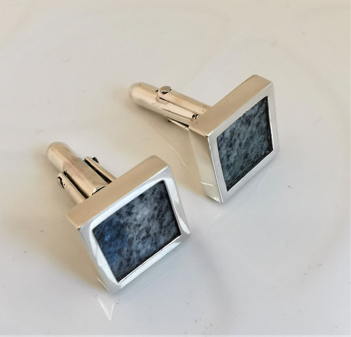 K2 Mountain and Solid Sterling Silver Cufflinks