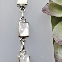 Load image into Gallery viewer, Moonstone and Sterling Silver Bracelet