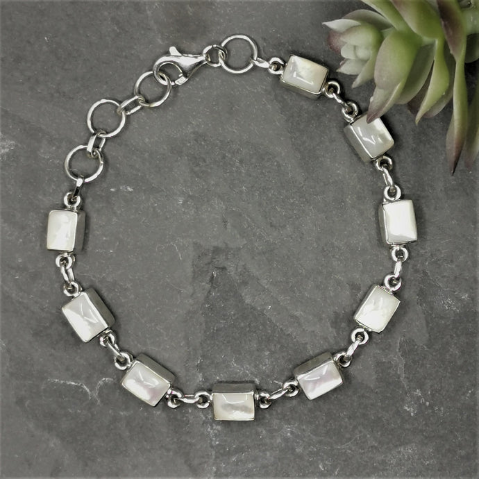 Moonstone and Sterling Silver Bracelet