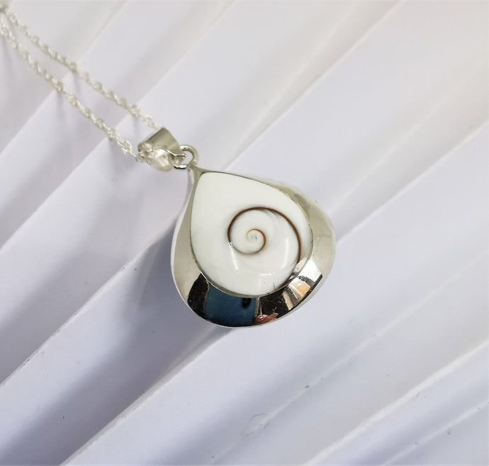 Shiva Eye and Mother of Pearl Necklace
