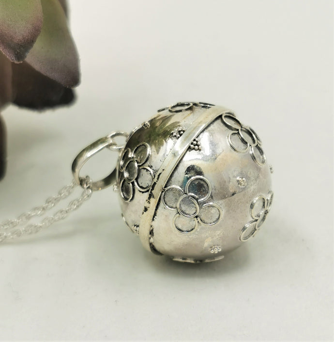 Large Sterling Silver Harmony Ball Pendant