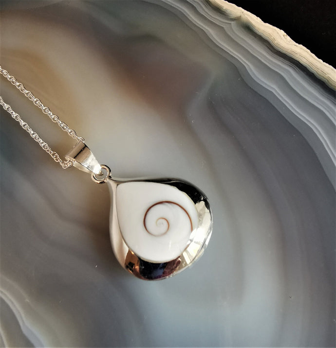 Shiva Eye and Paua Shell Necklace| Natural Jewellery