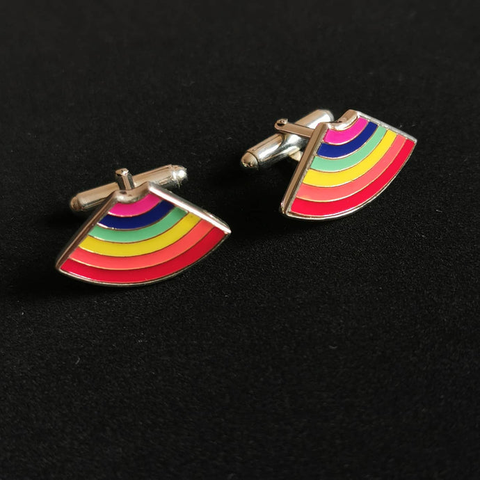 Rainbow Sterling Silver Cufflinks