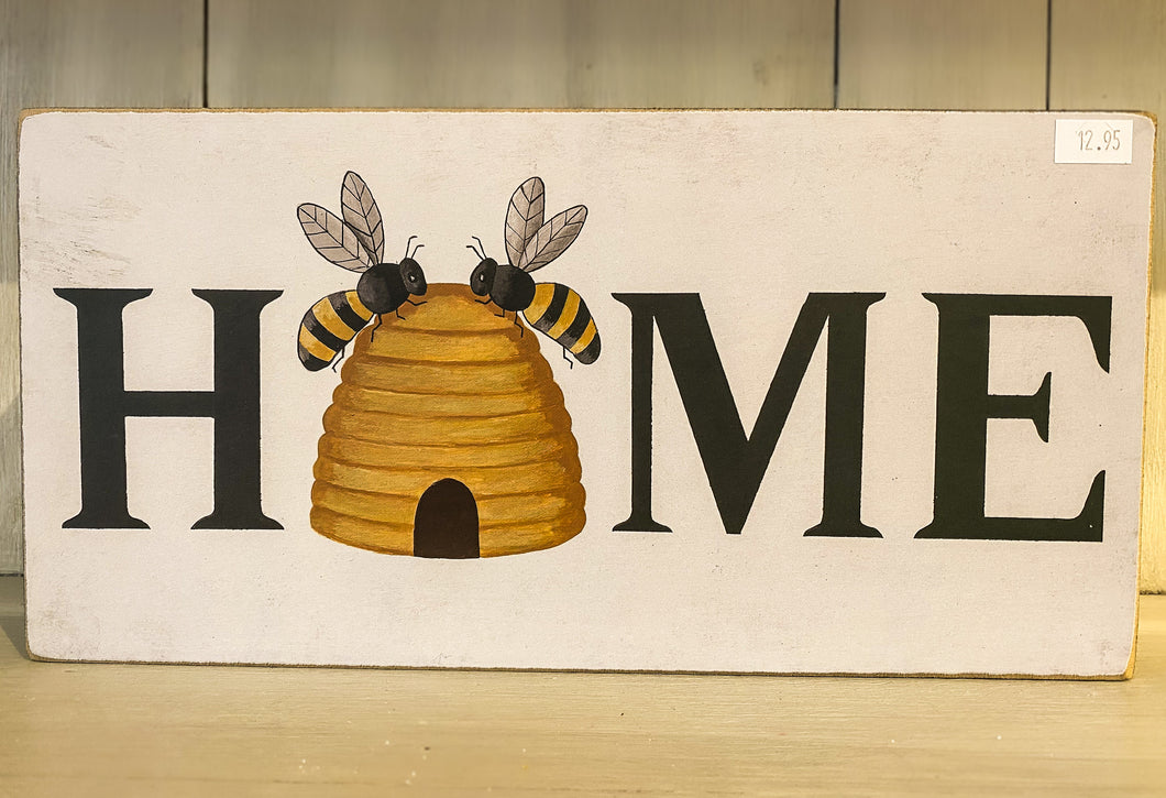 Beehive Home Box Sign