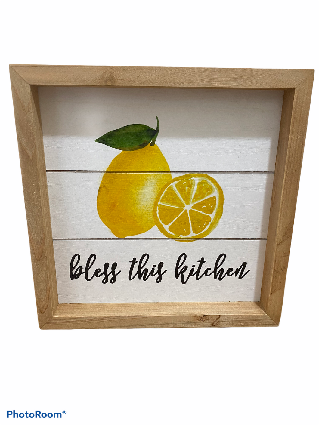 Bless this Kitchen Framed Lemon Sign Home Decor