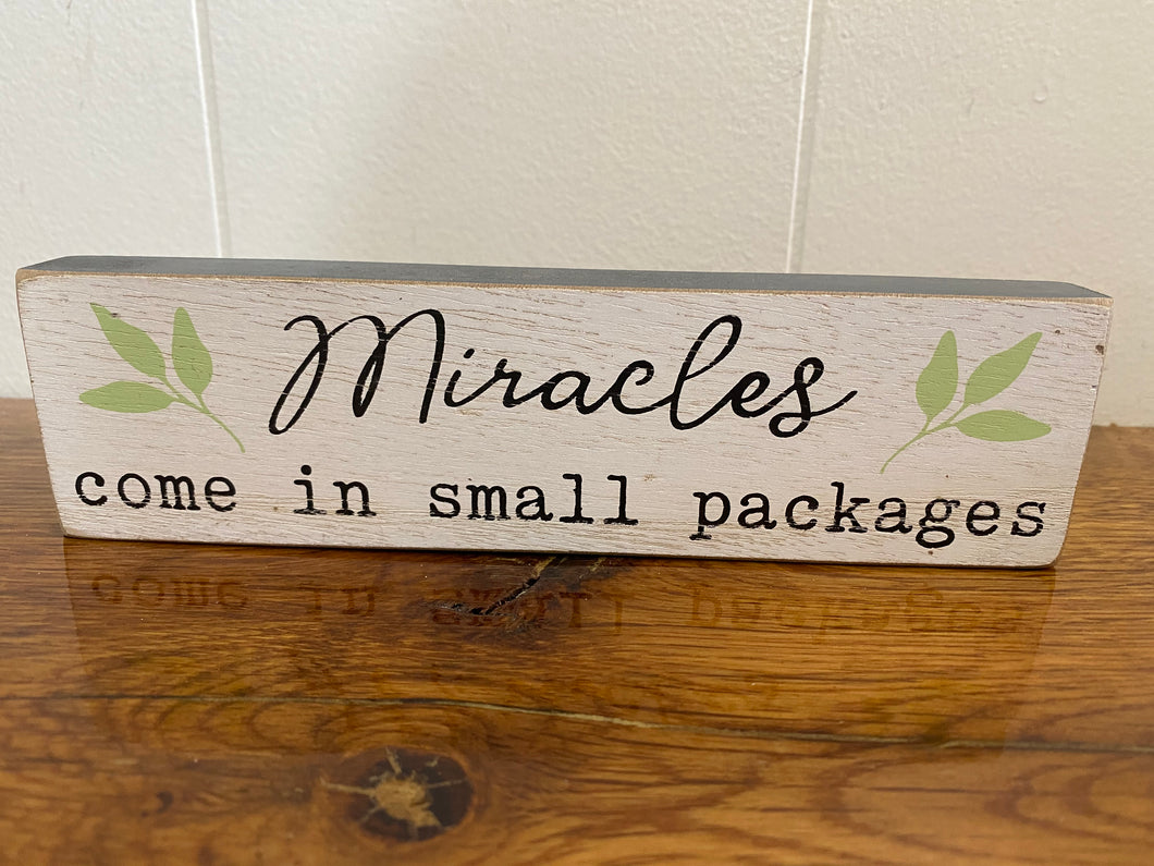 Miracles Come in Small Packages Kid's Sign Home Decor