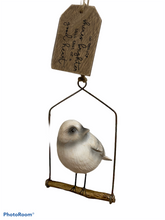 Load image into Gallery viewer, Good Heart Resin Bird on a Swing Spring Home Decor