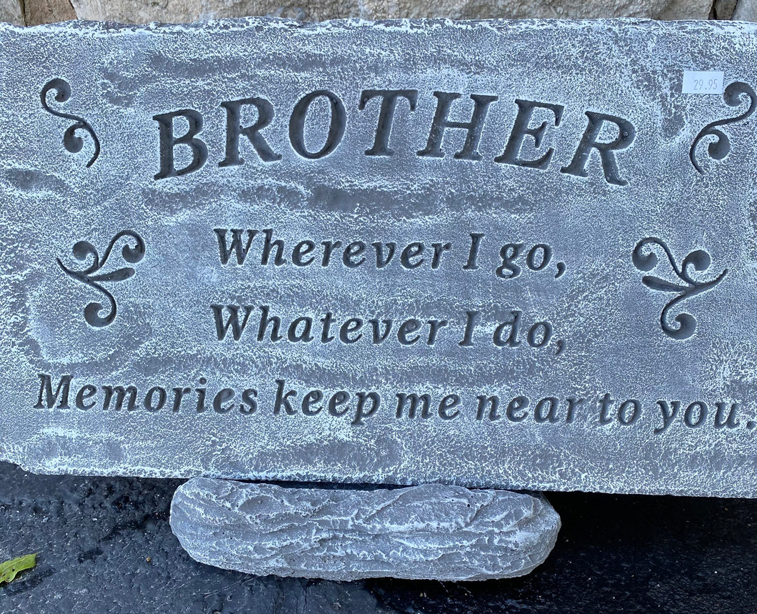 Brother Cement Memorial Plaque