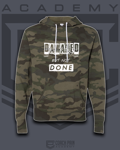 Camo Design Lightweight Hooded Sweatshirt