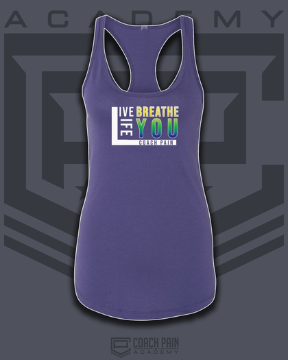 Live Breath Life You Women's Racerback Tank