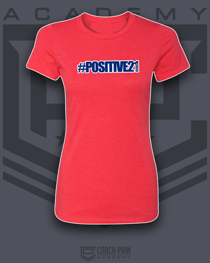 #Positive21 Women's Fitted T-Shirt