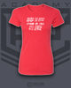 Fight or Run Stand or Fall Women's Fitted T-Shirt