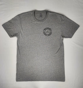 Limited Addition Adult Unisex Crew Tee Heather Grey Kauai Logo Back