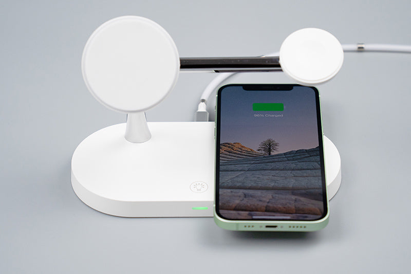 ZEERA 5-in-1 Fast Wireless Charging Dock with 15W MagSafe Charger for iPhone 12, AirPods & Apple Watch