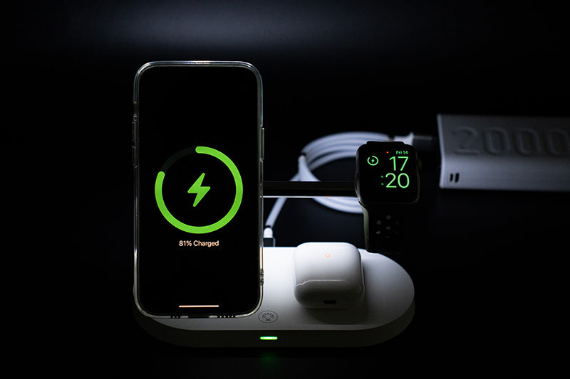 ZEERA 5-in-1 Fast Wireless Charging Dock with 15W MagSafe Charger for iPhone 12, AirPods & Apple Watch output 10