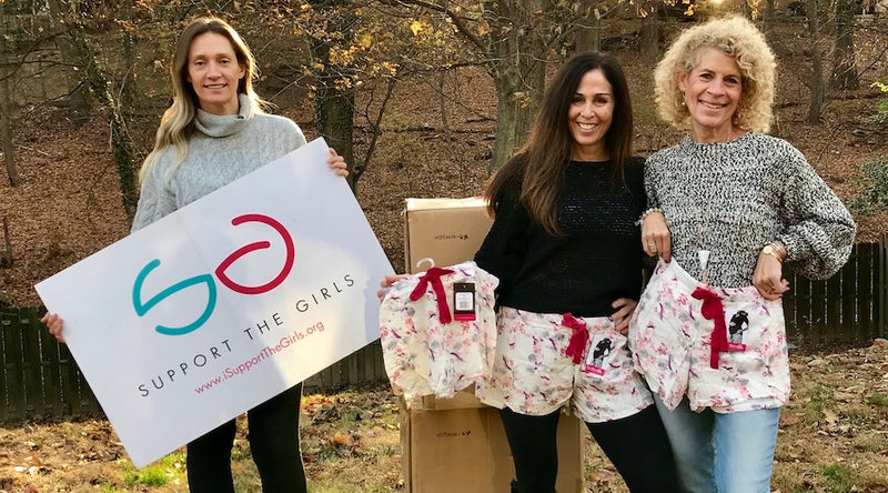 Hundreds of Hotmilk garments donated to charities in need.