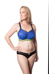 HOTMILK ACTIVATE SPORTS  FLEXIWIRE NURSING BRA ROYAL BLUE