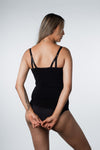 Hotmilk nursing camisole in black for breastfeeing and pregnancy