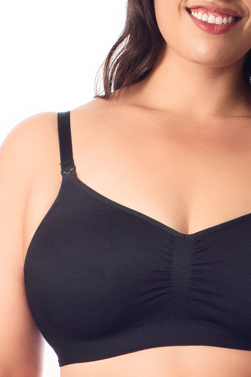 My Necessity black full cup nursing bra