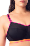 activate black nursing sports bra by hotmilk