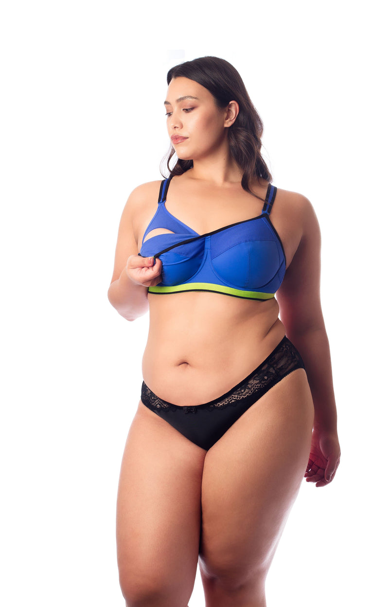 activate royal blue nursing sports bra by hotmilk