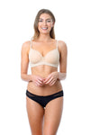 HOTMILK FOREVER YOURS NUDE CONTOUR PREGNANCY BREASTFEEDING NURSING BRA - FLEXI UNDERWIRE WITH EXLIPSE BLACK BIKINI BRIEF