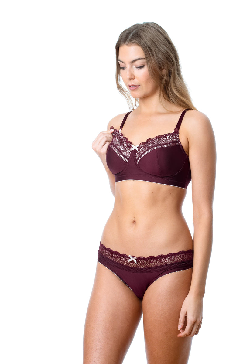 Show Off Fig nursing bra by Hotmilk nursing lingerie