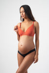 AMBITION PLUNGE CHILLI CONTOUR NURSING BREASTFEEDING PREGNANCY BRA - FLEXI UNDERWIRE WITH AMBITION BLACK BRAZILIAN BRIEF