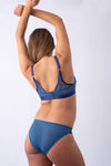 PROJECTME WARRIOR PLUNGE POWDER BLUE NURSING PREGNANCY BRA - FLEXI UNDERWIRE
