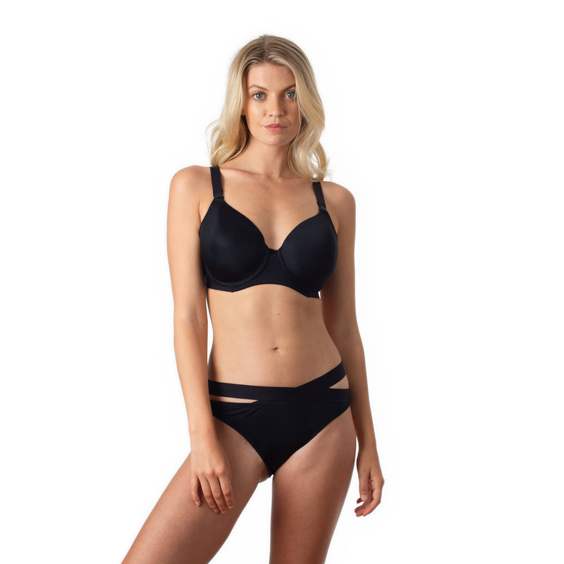 Defy bikini brief by Hotmilk in recycled nylon with Defy Contour Breastfeeding bra