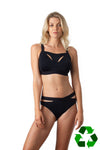 Defy bikini brief by Hotmilk in recycled nylon with Defy Crop Breastfeeding bra