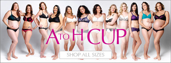 A to H cup sizes