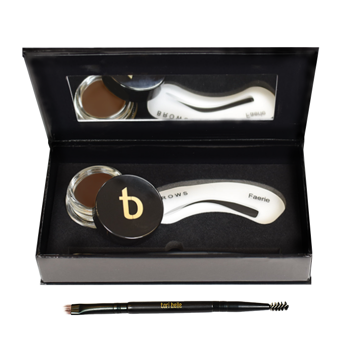 The Works Brow and Liner Kit - Brown