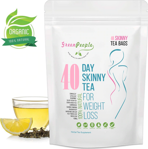 40 Day Natural Skinny Herbal Detox Tea - DETOXMETEA - Free World Shipping, Detox Skinny Weightloss Tea